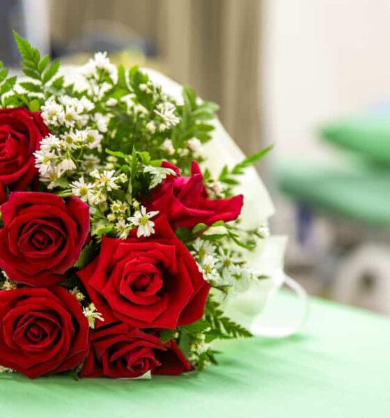 flores para quem está no hospital