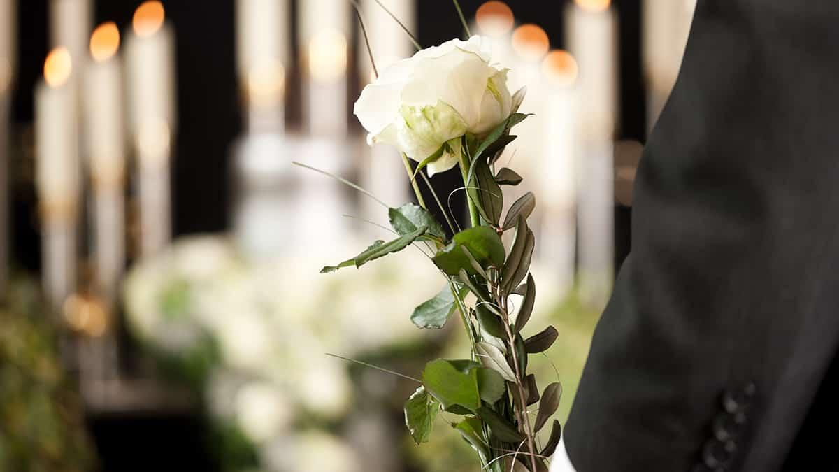 Flores para o funeral de um ente querido