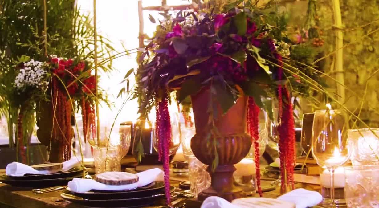 Decoração floral em bodas de casamento